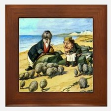The Carpenter and the Walrus Framed Tile