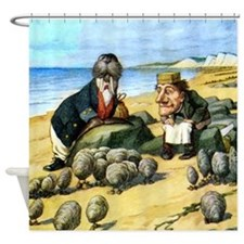 The Carpenter and the Walrus Shower Curtain