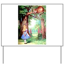 Alice & The Cheshire Cat Yard Sign