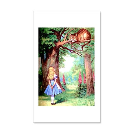 Alice & The Cheshire Cat 35x21 Wall Decal