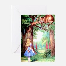 Alice & The Cheshire Cat Greeting Card