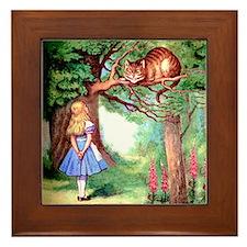 Alice & The Cheshire Cat Framed Tile
