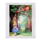 Alice and wonderland Fleece Blankets