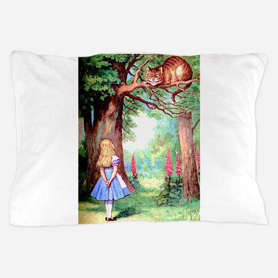 Alice & The Cheshire Cat Pillow Case