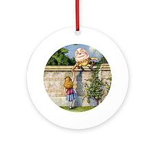 Alice and Humpty Dumpty Ornament (Round)