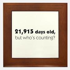 60th Birthday Framed Tile