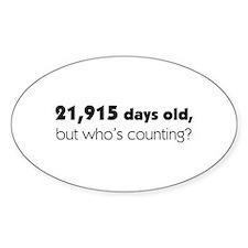 60th Birthday Decal