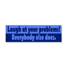 laugh_bs1.png Car Magnet 10 x 3