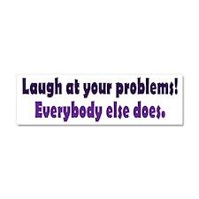 laugh_bs2.png Car Magnet 10 x 3