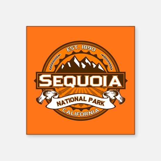 "Sequoia NP Pumpkin.png Square Sticker 3"" x 3"""