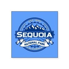 "Sequoia NP Blue.png Square Sticker 3"" x 3"""