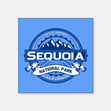 """Sequoia NP Blue.png Square Sticker 3"""" x 3"""""""