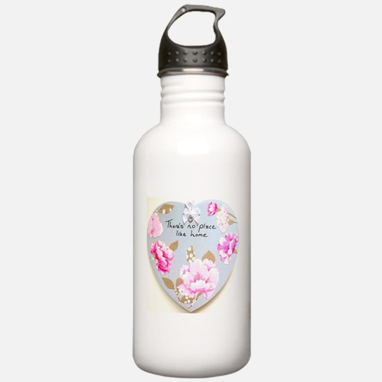There's No Place Like Home Heart Water Bottle