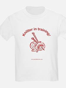 Knitter in training! Kids T-Shirt