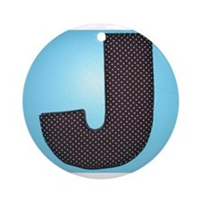 THE LETTER J Ornament (Round)