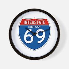 Interstate 69 - MI Wall Clock