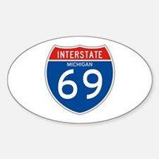 Interstate 69 - MI Oval Decal