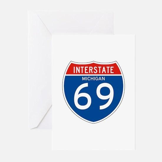Interstate 69 - MI Greeting Cards (Pk of 10)