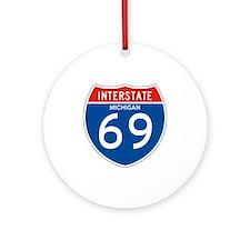 Interstate 69 - MI Ornament (Round)