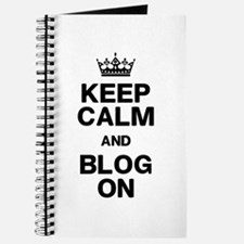 Keep Calm Blog On Journal