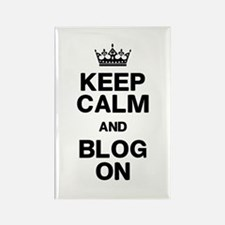Keep Calm Blog On Rectangle Magnet