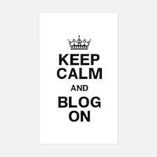 Keep Calm Blog On Decal