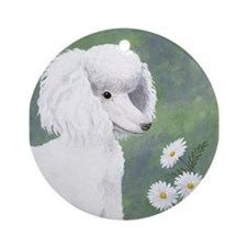 StephanieAM Poodle Ornament (Round)