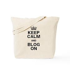 Keep Calm Blog On Tote Bag