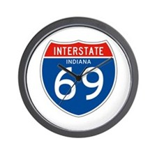 Interstate 69 - IN Wall Clock