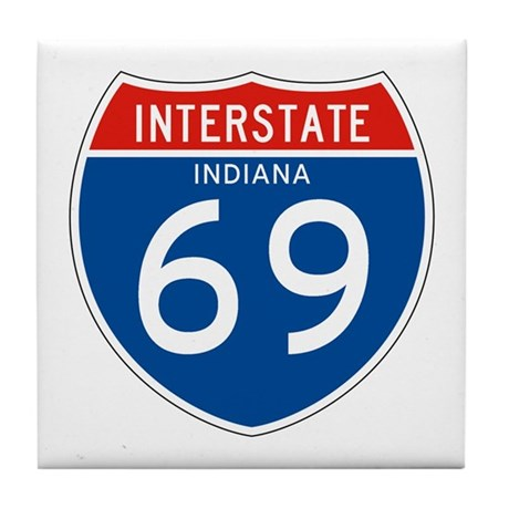 Interstate 69 - IN Tile Coaster