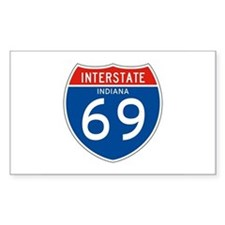 Interstate 69 - IN Rectangle Decal