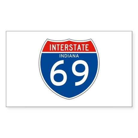 Interstate 69 - IN Rectangle Sticker