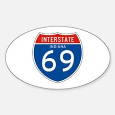 Interstate 69 - IN Oval Decal