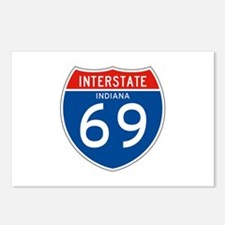 Interstate 69 - IN Postcards (Package of 8)