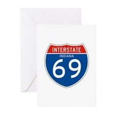Interstate 69 - IN Greeting Cards (Pk of 10)