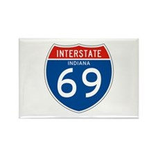 Interstate 69 - IN Rectangle Magnet