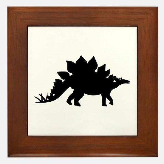 Dinosaur Stegosaurus Framed Tile