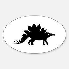 Dinosaur Stegosaurus Sticker (Oval)