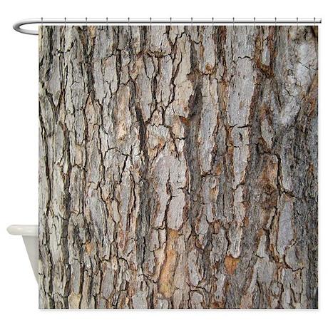 Tree Bark Texture Shower Curtain