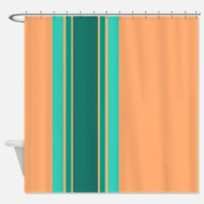 Peach And Teal Shower Curtains