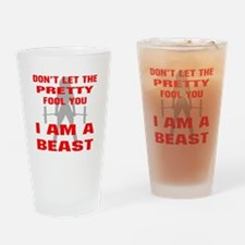 Female I Am A Beast Drinking Glass