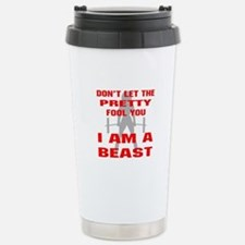 Female I Am A Beast Stainless Steel Travel Mug