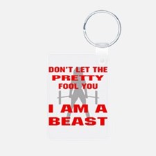Female I Am A Beast Keychains