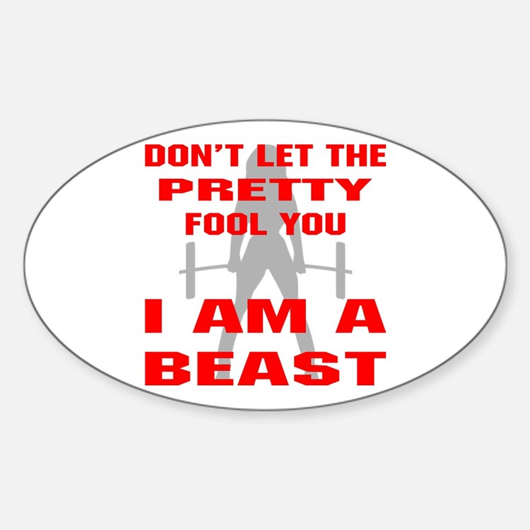 Female I Am A Beast Decal