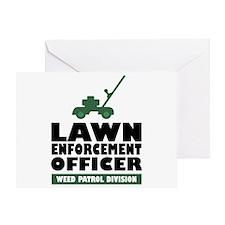 Lawn Enforcement Greeting Card