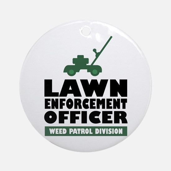 Lawn Enforcement Ornament (Round)