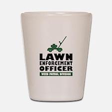 Lawn Enforcement Shot Glass