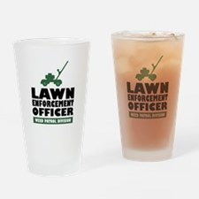 Lawn Enforcement Drinking Glass