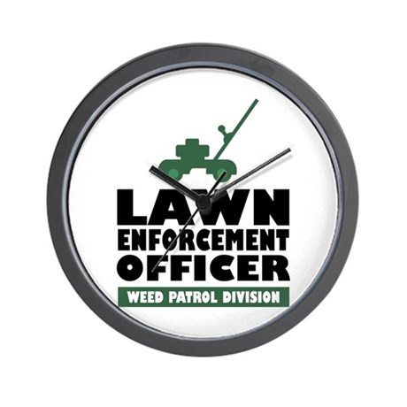 Lawn Enforcement Wall Clock