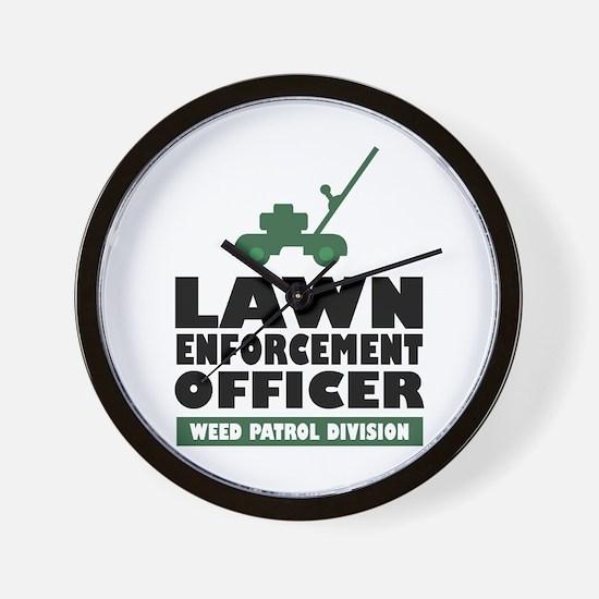 Lawn Enforcement Wall Clock